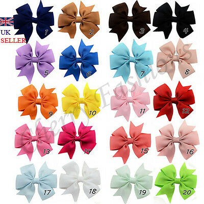 Alligator Bow Hair Clip Handmade Clips Baby Girls Ribbon Kids Sides Accessories