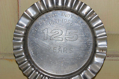 Vintage Metal Ashtray United States Steel Corporation American Steel Wire Div.