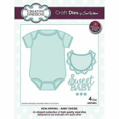 Craft Dies by Sue Wilson - New Arrival Collection - Baby Onesie (CED10021)