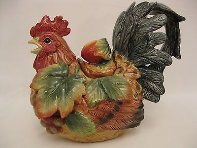 Fitz and Floyd Country Gourmet Rooster Teapot