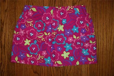 New Ll Bean Girl Purple Pink Floral Swimsuit Skirt 6X 7