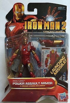 "IRON MAN POWER ASSAULT ARMOR Marvel Universe 2009 3.75"" INCH ACTION FIGURE"
