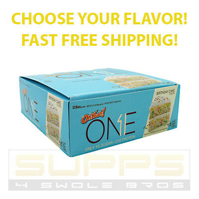 ISS OH YEAH! ONE BAR - Box of 12 Protein Bars - 1g Sugar - BEST PRICE ON EBAY!