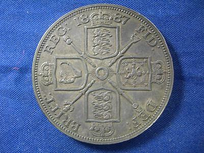 GREAT BRITAIN - 1887 Roman 1 Double Florin - deeply toned - XF