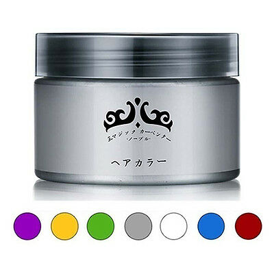 Unisex Easy Modeling Temporary Dye DIY Glamour Hair Color Wax Hair Cream Novelty