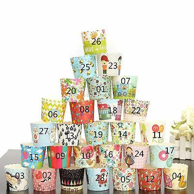 50/100pcs Paper Cupcake Liner Cake Case Muffin Baking Cup Wedding Birthday Party