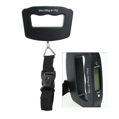 50KG 10G Portable LED Digital Fish Hanging Luggage Electronic Weight Scale Hook