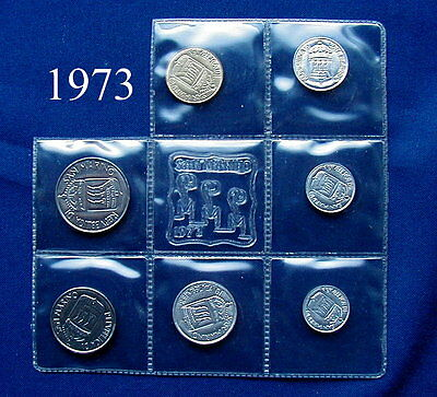 1973 SAN MARINO (Italy) complete set coins UNC without silver
