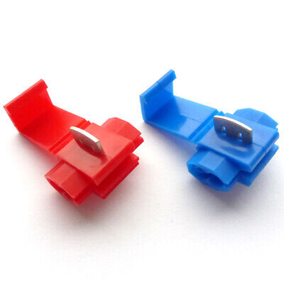 20 x Quick Splice Connectors Red or Blue - Scotchlok / Scotch Lock Type