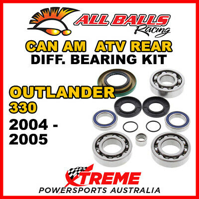 25-2069 Can Am Outlander 330 2004-2005 ATV Rear Differential Bearing & Seal Kit