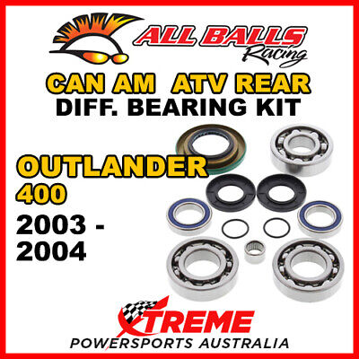 25-2069 Can Am Outlander 400 2003-2004 ATV Rear Differential Bearing & Seal Kit