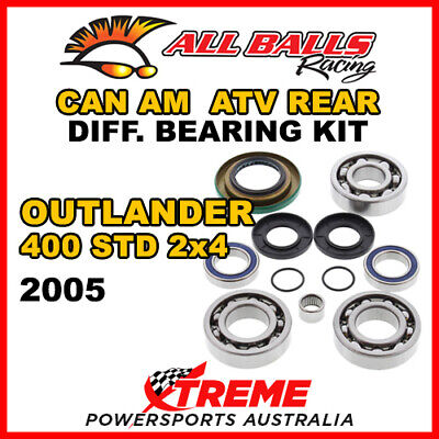 25-2069 Can Am Outlander 400 STD 2x4 2005 ATV Rear Differential Bearing Kit