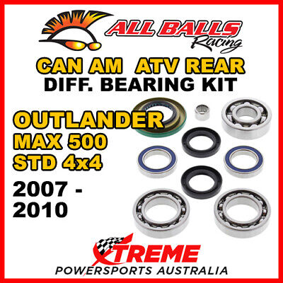 25-2068 Can Am Outlander MAX 500 STD 4x4 07-10 ATV Rear Differential Bearing Kit