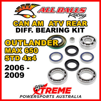 25-2068 Can Am Outlander MAX 650 STD 4x4 06-09 ATV Rear Differential Bearing Kit