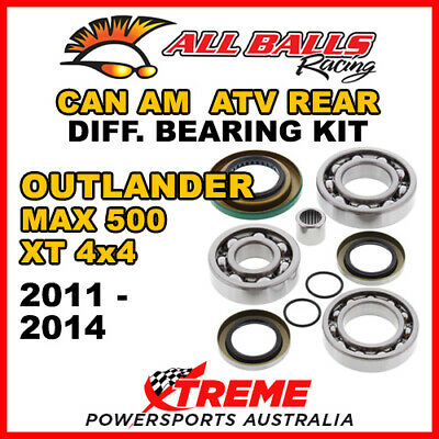 25-2086 Can Am Outlander MAX 500 XT 4x4 11-14 ATV Rear Differential Bearing Kit