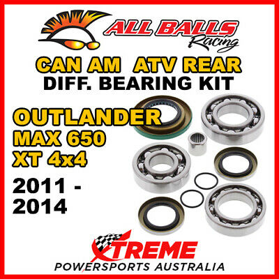 25-2086 Can Am Outlander MAX 650 XT 4x4 11-14 ATV Rear Differential Bearing Kit