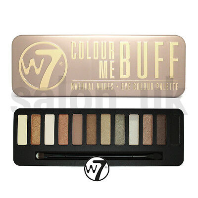 W7 Colour Me Buff Natural Nudes 12 Colour Eyeshadow Makeup Palette