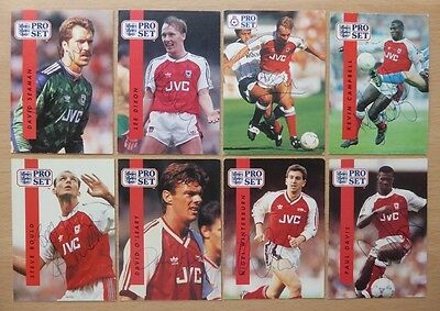 Arsenal Legends Signed Trading Cards - Proset & Promatch