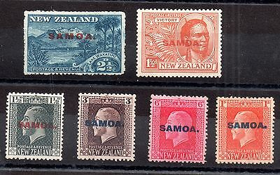 Samoa 1914-1920 KGV small mint collection WS1214