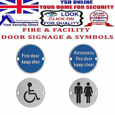 FIRE & FACILITY SIGNS Toilet-Disabled-Shower-Baby Change 76 mm Dia SSS & SAA