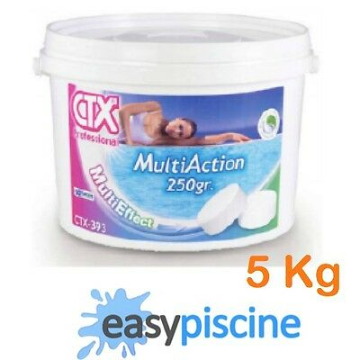 Chlore Multiaction Piscine Ctx-393 (Astral-Pool Triplex) Galet 250 G./ Seau 5 Kg