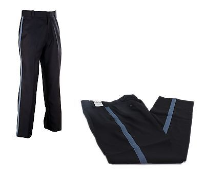 Dutypro Mens Poly Uniform Duty Pants Navy Blue French Blue Side Stripe All Sizes