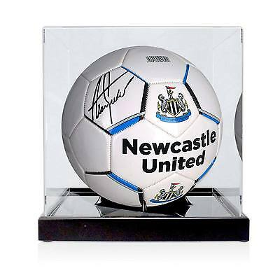 Alan Shearer Signed Newcastle Football Autographed Soccer Ball In Display Case
