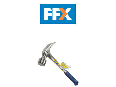 Estwing ESTE324S E3/24S Straight Claw Framing Hammer - Vinyl Grip 24oz