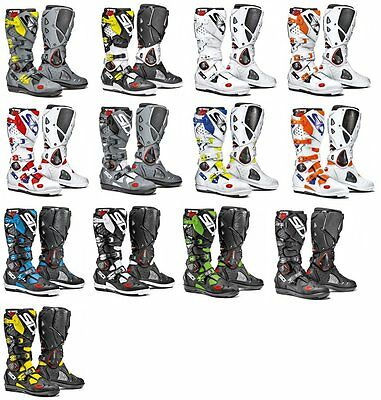 Sidi Mens Crossfire 2 SRS Offroad Motocross Motorcycle Riding Boots