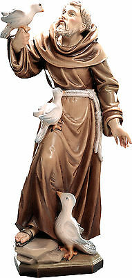 Statua San Francesco Assisi Legno -St.Francis of Assis with pigeons woodcarving