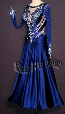 U5186 Evening Women Ballroom tango Quickstep waltz salsa dance dress custom made