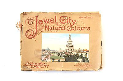 PPIE Panama Pacific Exposition Jewel City in Natural Colours : 31 Prints 1915 SF