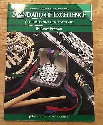 Standard of Excellence Book 3- Timpani & Auxiliary Percussion