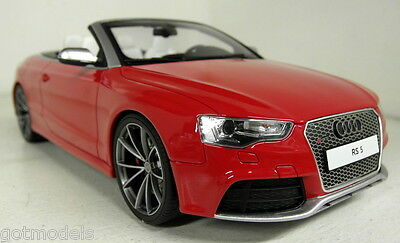 GT Spirit 1/18 Scale Audi RS5 Convertible Misano red Resin sealed body Model Car