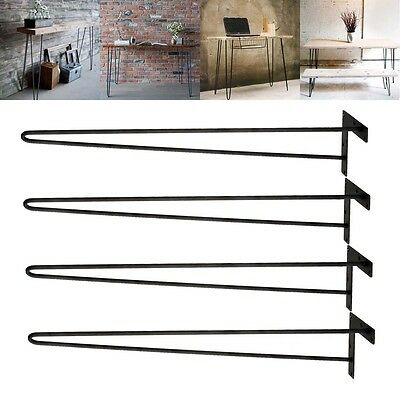 """28"""" Inch Hairpin Table Legs DIY Modern Solid Iron Dining Table Desk Set of 4"""