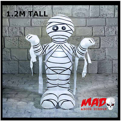 Airblown Inflatable Mummy 1.2m  Halloween Horror Outdoor Decoration Fan Operated