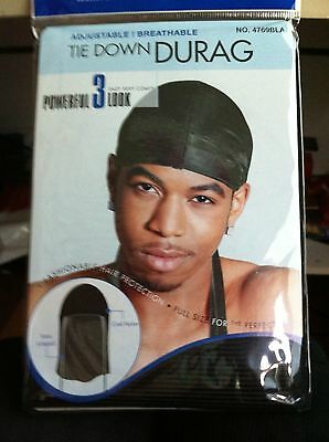 New Black Durags Du Rag Cap Doo Rag Skully