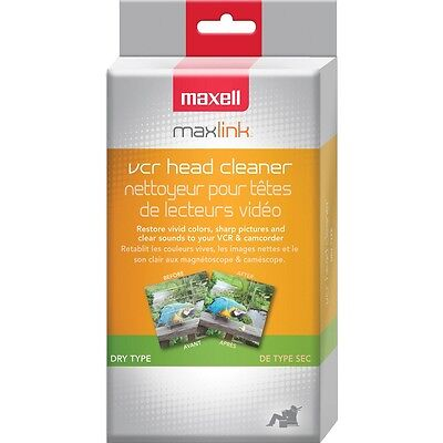 Maxell 290058 VP-100 VHS Head Cleaner (Dry)