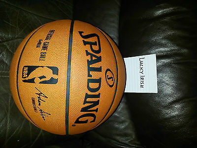 Spalding NBA Official Game Basketball - Leather Game Ball Size 7