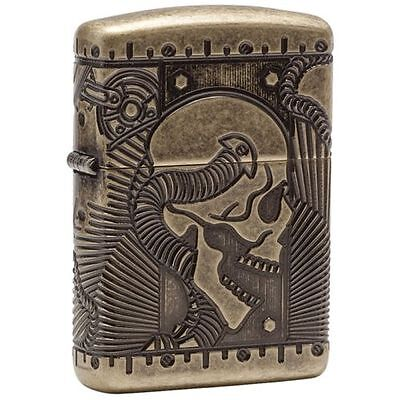 Zippo Armor Multi-Cut Steampunk Skull Lighter, Choice Catalog, 29268, New In Box