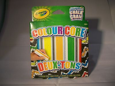 Crayola Washable Side Walk Chalk 5 Pack Color Core