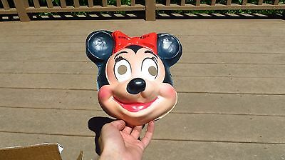 1950s Walt Disney Minnie Mouse Halloween Face Mask Plastic Costume