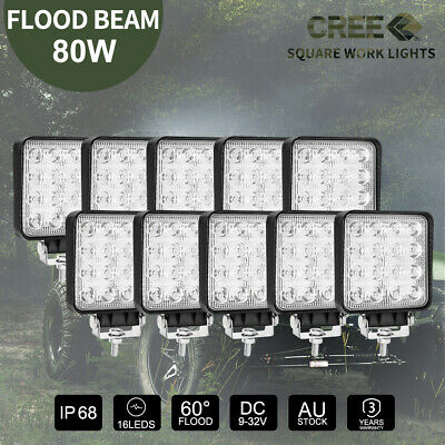 200W 9 inch HID Driving Lights Xenon Spotlights Offroad 4X4WD UTE Truck 12V