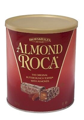 3 x Brown & Haley ALMOND ROCA COLLECTION Almond Roca Canister 822gms each