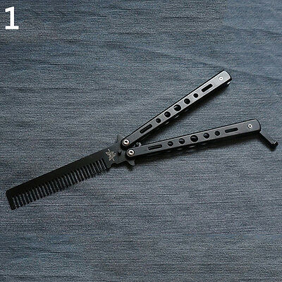 Butterfly Knife Shape Design Comb Training Tool Without Blade New Trendy