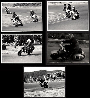 CUSTOM VESPA LAMBRETTA SCOOTER HI-SPEED RACES ~ 1981 5x7 VINTAGE PHOTO LOT x 5!