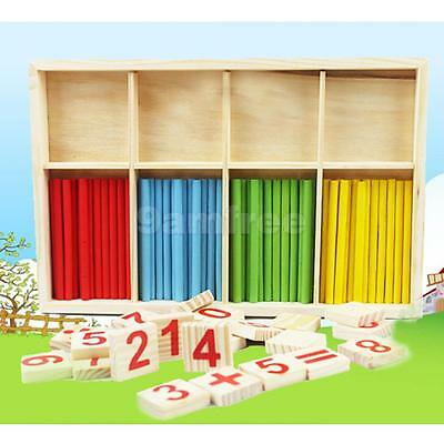 Wooden Montessori Counting Sticks Kids Early Maths Mathematics Learning Toys