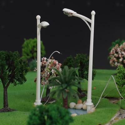 20pcs Model Single Head Street Lights Lamppost Layout Diorama 1:150 N Scale
