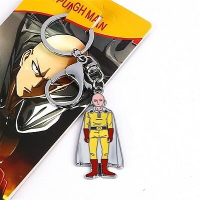 Cosplay One Punch Man Saitama Oppai Anime Pendant Keychain Keyring New Gifts