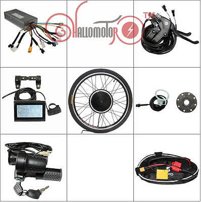 """Powerful 48v 1500w 26"""" Front Wheel Ebike Conversion Kit Sine Wave Controller"""